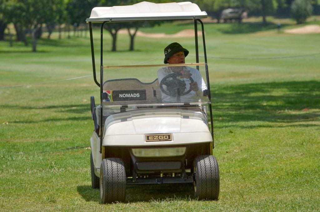 riding golf cart